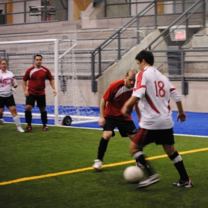 soccer on turf in Montreal