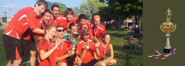 Ligue amicale de soccer de Montréal - La joie des vainqueurs!